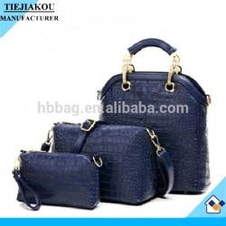 wholesale pu leather woman bag 2014 hot sale 3pcs purse & handbag