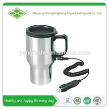 450ml Double wall manufacturer stainless steel 12v mug heater