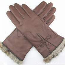 Fashion cheap ladies PU leather gloves