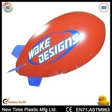 promotional pvc inflatable zeppelin helium balloon