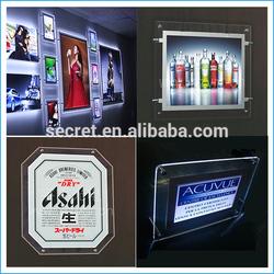 Newest LED slim display box advertising sign led crystal light box frame