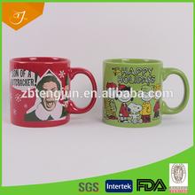High Quality Glazed Ceramic Mug With Dog Design,Ceramic Mug With Decal