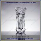 hot sell embossed glass vases for flower arrangements