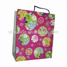 foldable printed custom flower paper shopping gift bag