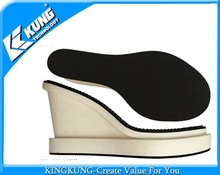 Cheap pu outsole wedge-heel ladies outsoles