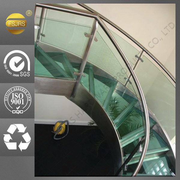 Treppengeländer Holz Gebogen ~ Innen gebogen edelstahl handlauf geländer design für treppen