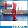 De color rojo traje, Inflable de dibujos animados en movimiento venta