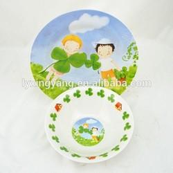 kids tableware boy and girl dinnerware set&porcelain boy and girl dinner set