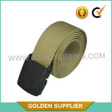 quick release factory custom tan military cotton web belt
