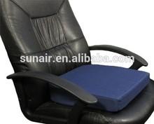 Memory Foam Seat Wedge Cushion + Memory Foam Lumbar Wedge Back Support Set