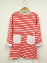 Child wear girls apparel stylish extra long T-shirt