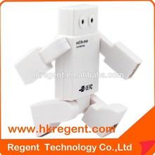 Unique Design 4 USB Robot Hub For Smart Phone Tablet