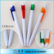 simple structure white barrel pen