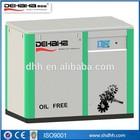 15kw Oil Free Screw Air Compressor (Mitsui Seiki Air End)