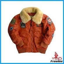 Alpha Industries Boys Maverick Pilot Jacket with Removable Faux Fur Collar