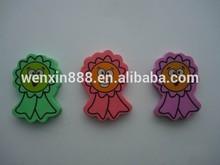 custom different design smile face shaped eraser for kids