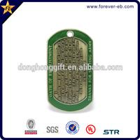 Custom metal military dog tag