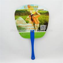 PP Advertising Fan/ promotional advertising hand held fan, pp fan with handle, cheap advertising hand fans
