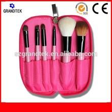 6 pcs animal hair oem private branding cosmetic tool make up brushes