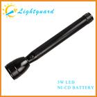 GWS-ME led light Factory waterproof powerful rechargerable strong bright Ni-cd Battery aluminium alloy multipurpose flashlight