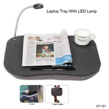 deluxe laptop computer lap desk with led light