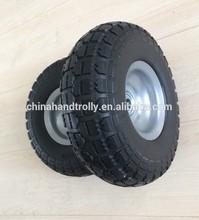 Steel hub small PU wheel 4.10 350-4 tyre