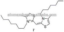 3- heptyl- 2-( 3- heptyl- 4- de metilo- 3h- thiazol- 2- ylidene) de metilo- 4- methylthiazolium 15763-48-1 yoduro de alta pureza
