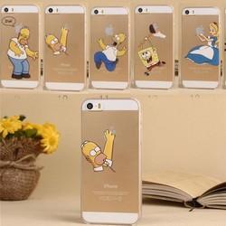 Homer Simpsons Transparent Plastic Hard Case For iphone 5