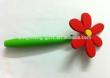 flower shape pvc pen