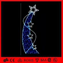 OBBO-PL christmas decoration street series light motif pole light with metor star