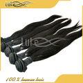 Vente en gros cheveux raides et soyeux, 100% remy vierges prolongation de cheveux humains, brésilienne cheveux aliexpress
