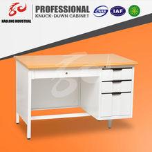 steel and wooden boss office desk, modern executive desk office table, office table executive