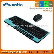 Designer promotional mini wireless keyboard mouse combo