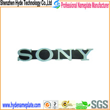 Special custom letter adhesive brand metal sign sony logo sticker
