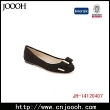 Black Suede Flower Decoration Women's Shoes Flats 2015