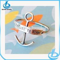 Customized handmade artisan stack stacking ring anchor engagement ring