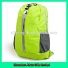 Promotional Design Green Backpack Lightweight Foldable Packable Camping Bag