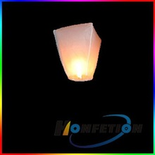 oval white paper sky lantern, fashion style