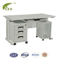 Latest metal frame small office desk size