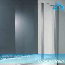 AOOC1503CL Flag shape tempered glass shower screen for bath tub