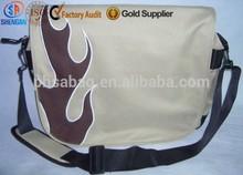 600D colorful flame embroider sport design leisure tote bag school shoulder bag