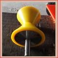 Heavy duty poliuretano plástico flange rodas