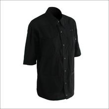 Multi-pocket short sleeve shirt of office uniform