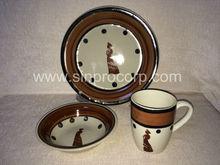 African earthenware dinner set; under plates ;ceramic dinner set; china dinnerware