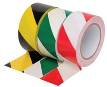 PVC Hazard Warning Tape Roll - Self Adhesive - 50mm x 33m