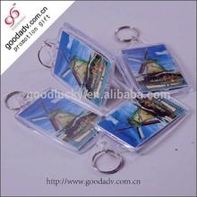 Cheap mini keychain digital photo frame clear acrylic photo keychain