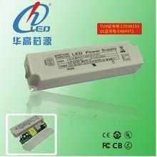 TUV UL external led power supply 100-277V output 1250mA IP40 LED driver