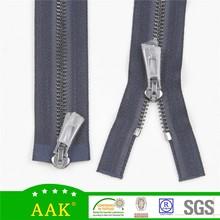 #5 gun color zipper zinc alloy double slider metal zipper custom metal zipper pull