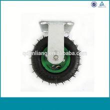 Alibaba China Fixed Elastic Rubber Caster Wheel