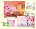 Quente se sentir rosa urso 3d papel de parede mural para kids room